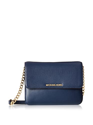 940deec75572 MICHAEL Michael Kors Women's Bedford Double Gusset Cross Body Bag, Navy,  One Size: Handbags: Amazon.com