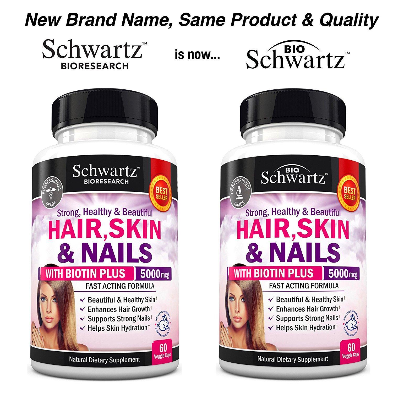Amazon.com: Vitaminas para cabello, piel y uñas con Biotina ...