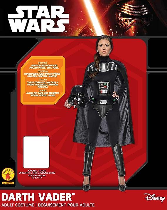 Star Wars - Disfraz de Darth Vader para mujer, Talla S adulto (Rubies 887594-S)