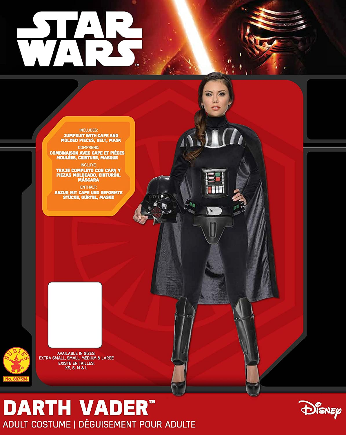 Womens Star Wars Darth Vader Deluxe Costume Jumpsuit