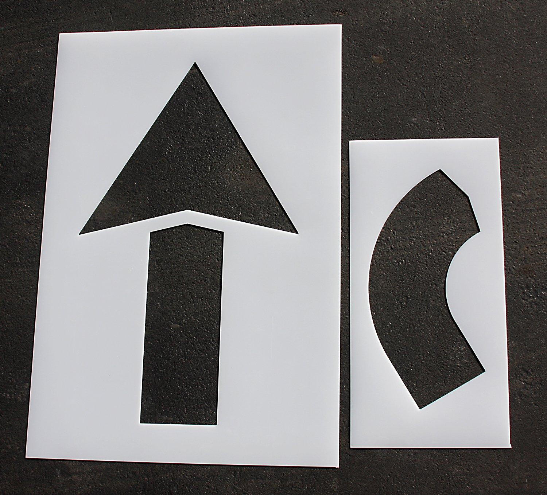 Parking Lot Pavement Stencils - 60 in - ARROW COMBO KIT Stencils - 1/8 by STENCIL - ARROW SETS