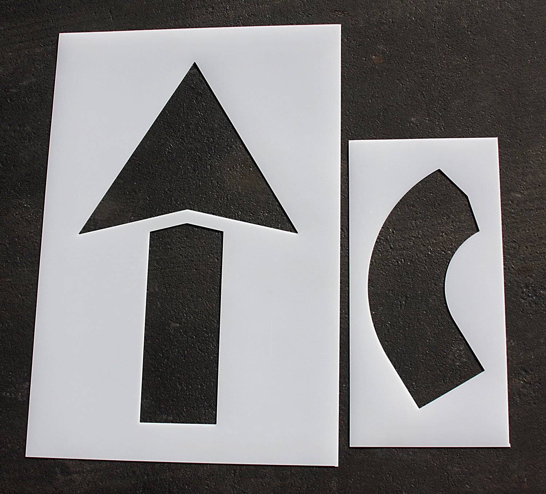 Parking Lot Pavement Stencils - 60 in - ARROW COMBO KIT Stencils - 1/8
