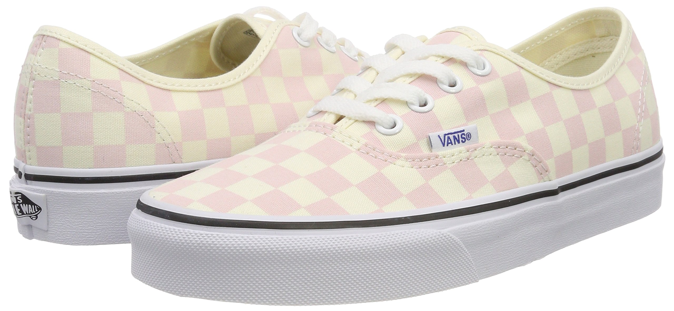 Vans Women's Authentic Trainers, Pink (Checkerboard) Chalk Pink/Classic White Q8l, 5.5 UK 38.5 EU by Vans (Image #5)