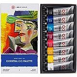 ZenART Professional Oil Paints Set - 8 x Large 45ml Tubes - Essential Palette for Artists, Eco-Friendly, Non-Toxic, and…