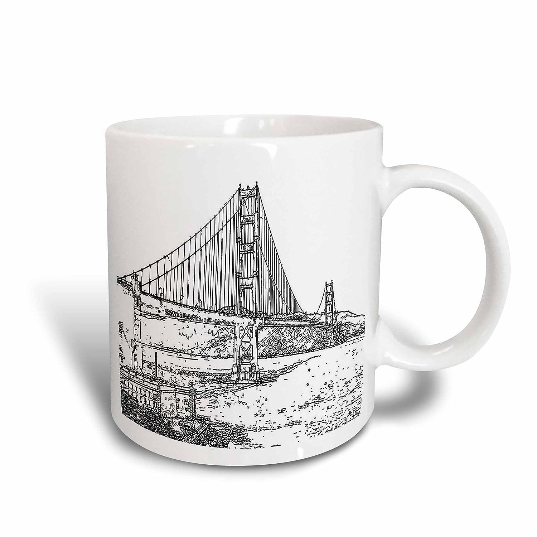 Buy 3drose Sandy Mertens California Golden Gate Bridge San Francisco Line Art 11oz Two Tone Red Mug Mug 21693 5 Online At Low Prices In India Amazon In
