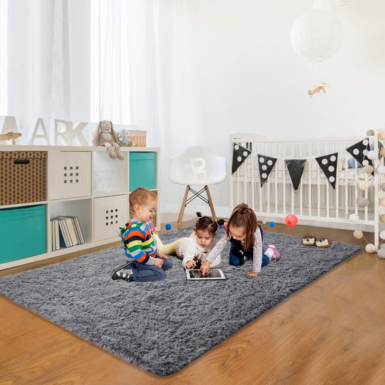 Grey Soft Area Rug / Crawling Mat For Nursery
