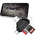 Trail Camera SD Card Viewer for iPhone/iPad/Android/Computer/Mac,4 in 1 SD/Micro SD Card Reader&Trail Camera Viewer to…