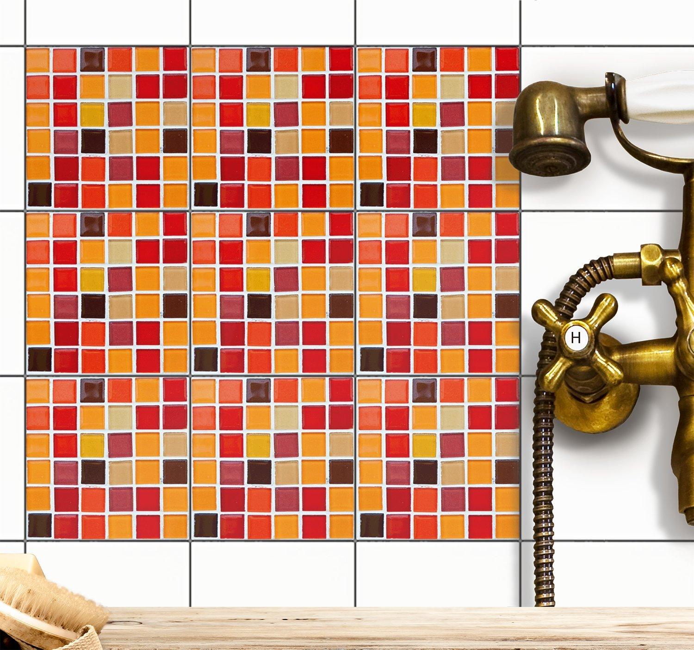 Fliesen Mosaik-Folie | Deko-Aufkleber für Badfliesen und ...