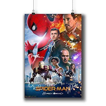 SPIDERMAN /& IRON MAN HOMECOMING MARVEL POSTER A4 A3