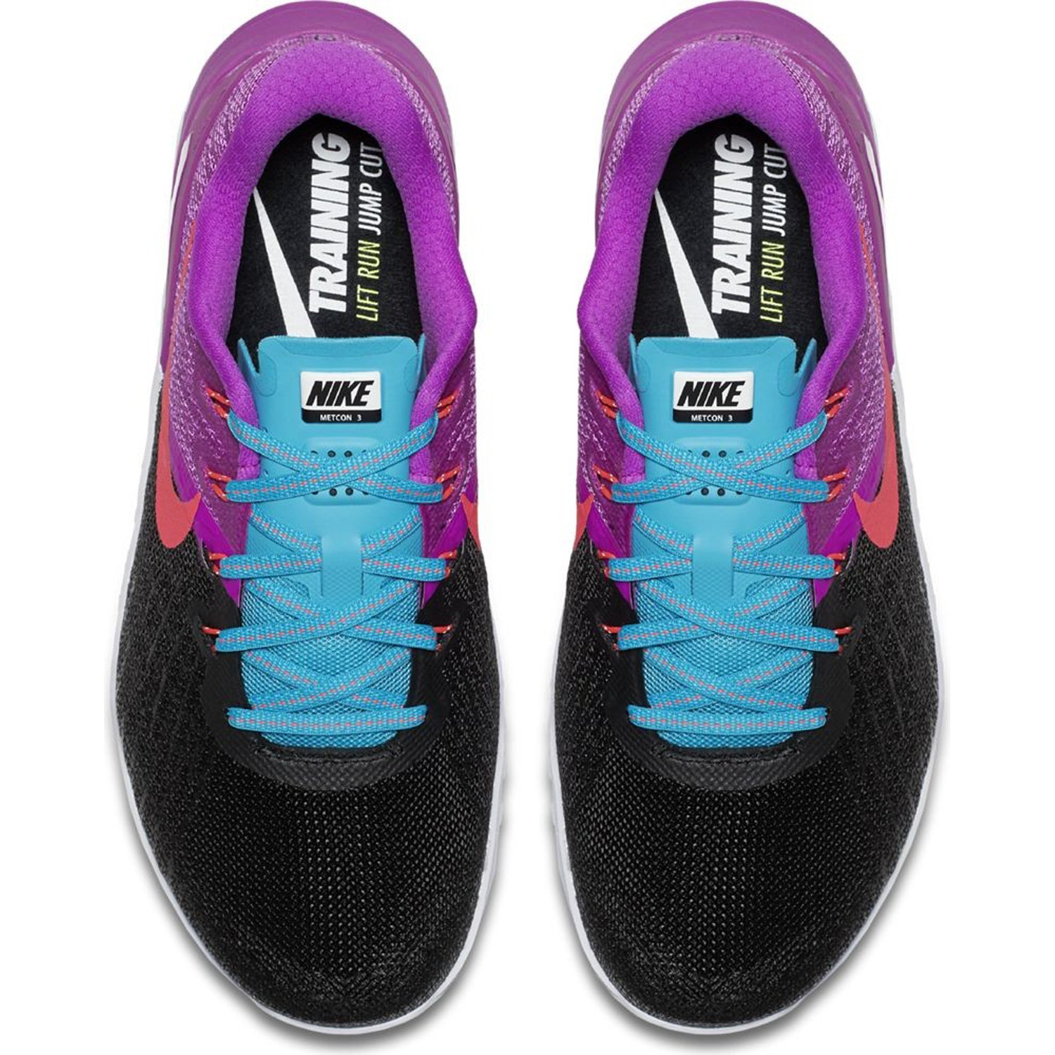 Nike Women's Metcon 3 Training Shoes Black / Racer Pink - Hyper Violet 849807-002 (7) by NIKE (Image #3)