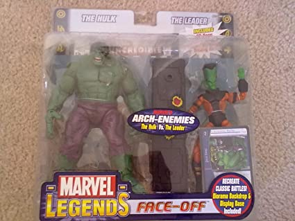 Marvel Variant Version Legends - Face-Off - Arch-Enemies Series - Hulk vs The Leader - Includes: 32 Page Comic Book & Marvel vs System Trading Card - ...