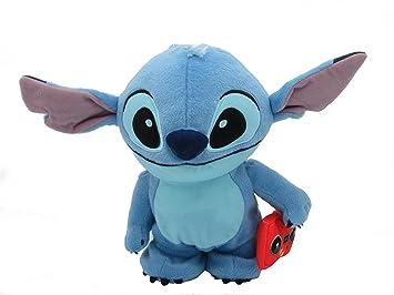 Felpa Peluche de Stitch con Radio 22cm Caminando Y REPITIENDO Las Frases Original Disney Lilo y