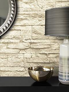 Steintapete Vlies Beige | Schöne Edle Tapete Im Steinmauer Design | Moderne  3D Optik Für Wohnzimmer