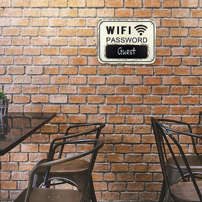 Amazon.com: Letrero de contraseña WiFi MDF pintado blanco ...