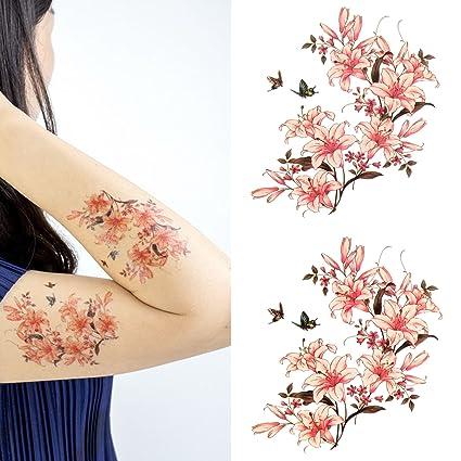 Oottati Tatuajes Temporales Mujer Mariposa (2 hojas): Amazon.es ...
