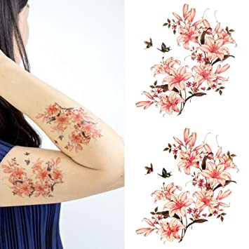 e9e7d4148 Amazon.com : Oottati Women Floral Arm Chest Temporary Tattoo Mandala Flower  Butterfly (2 Sheets) : Beauty
