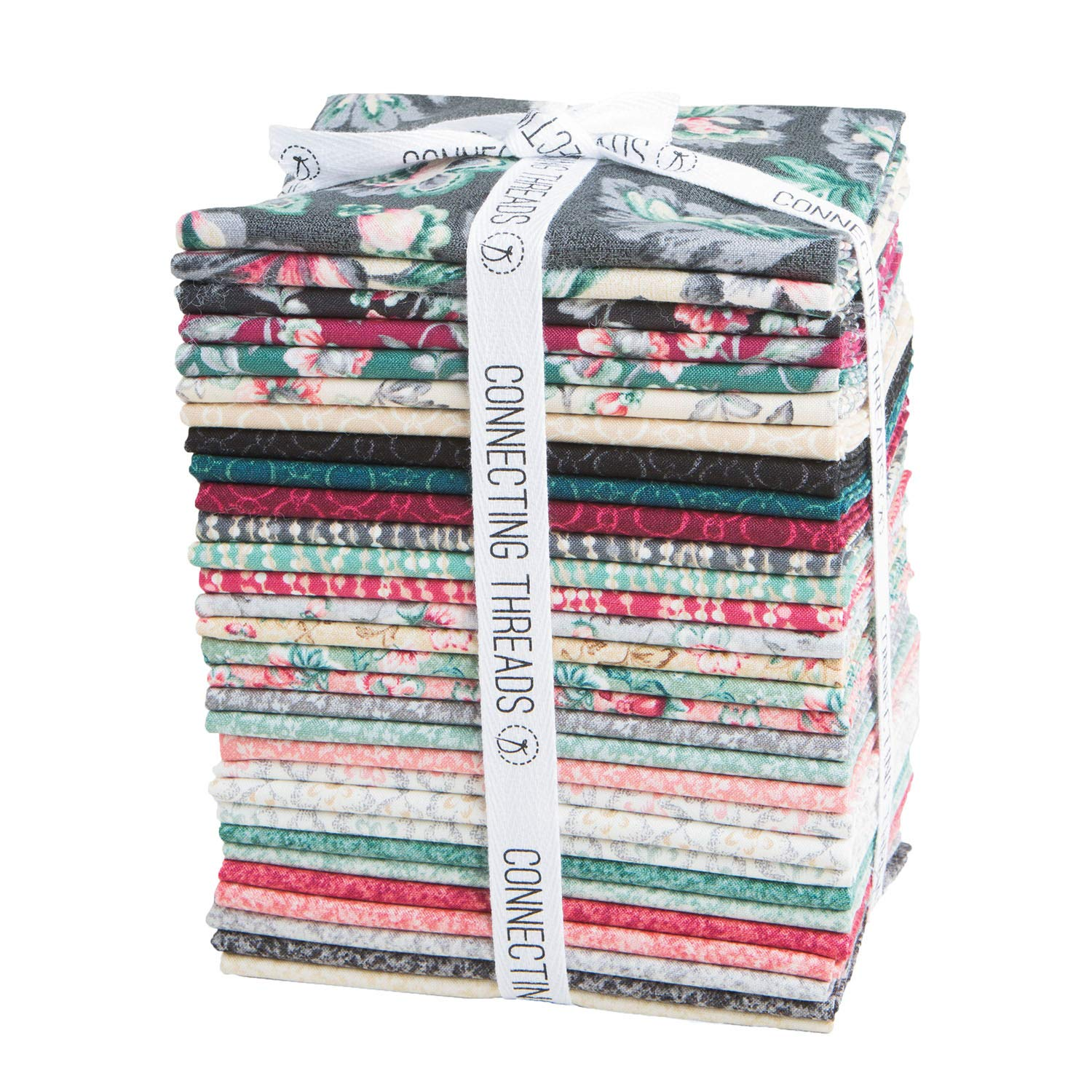 Connecting Threads Print Collection Precut Quilting Fabric Bundle (Jardin de Nicolette - Fat Quarters) by Connecting Threads (Image #1)