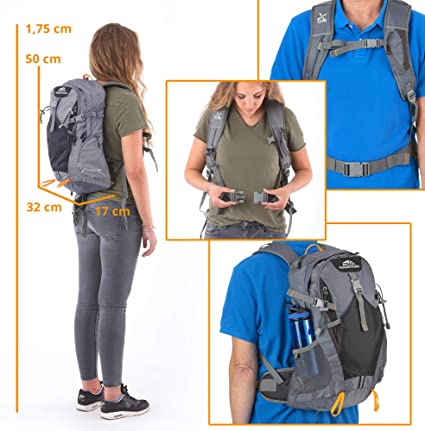Dutch Mountains Hiking Bags Backpacks Trekking Backpack Ijssel 20l Black Sport Freizeit