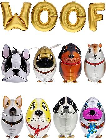 Amazon.com: Gejoy 12 piezas de globos de animales de paseo ...