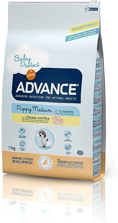 Advance Baby Protect Croquettes pour Chiot Medium Poulet et Riz 3 kg Pack de 5
