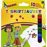 AMEWI 300010 - Malinos T-Shirt Zauber, 10 Textilstifte