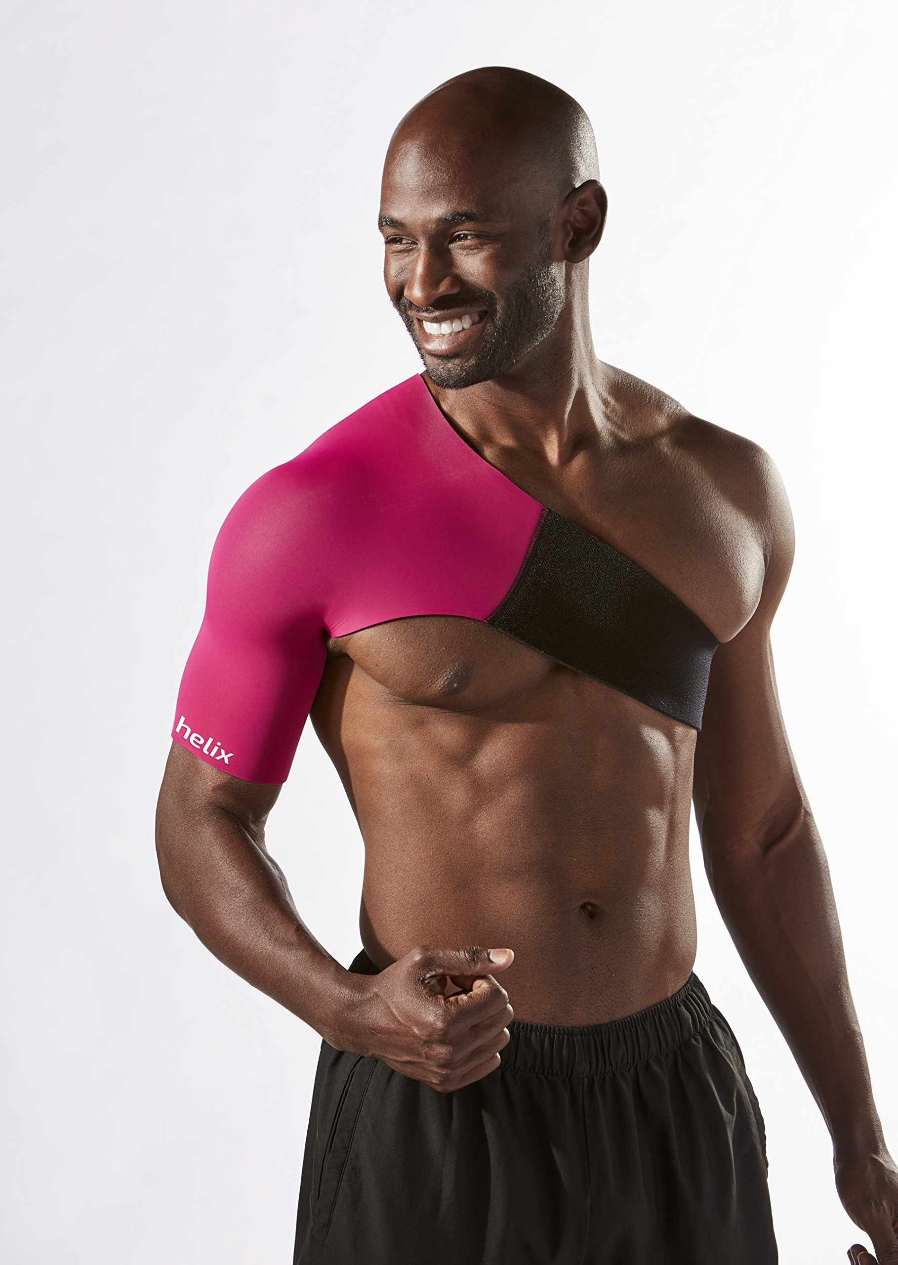 Body Helix Adjustable Shoulder Compression - Shoulder Compression Sleeve – Provides Comfortable Compression to The Shoulder Joint, Muscles, tendons and ligaments.