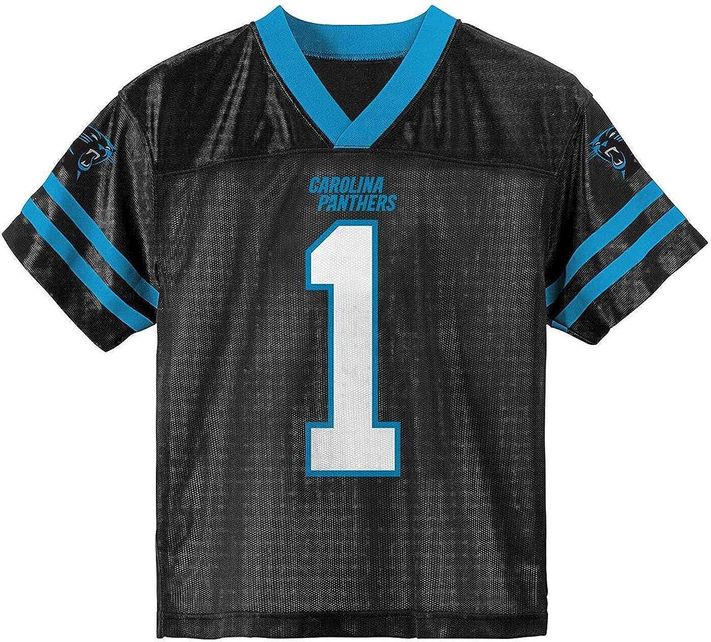 Cam Newton Carolina Panthers #1 Black Kids Home Player Jersey