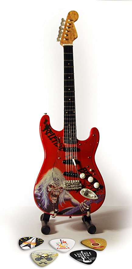Iron Maiden Release The Beast Réplica en miniatura de guitarra y ...