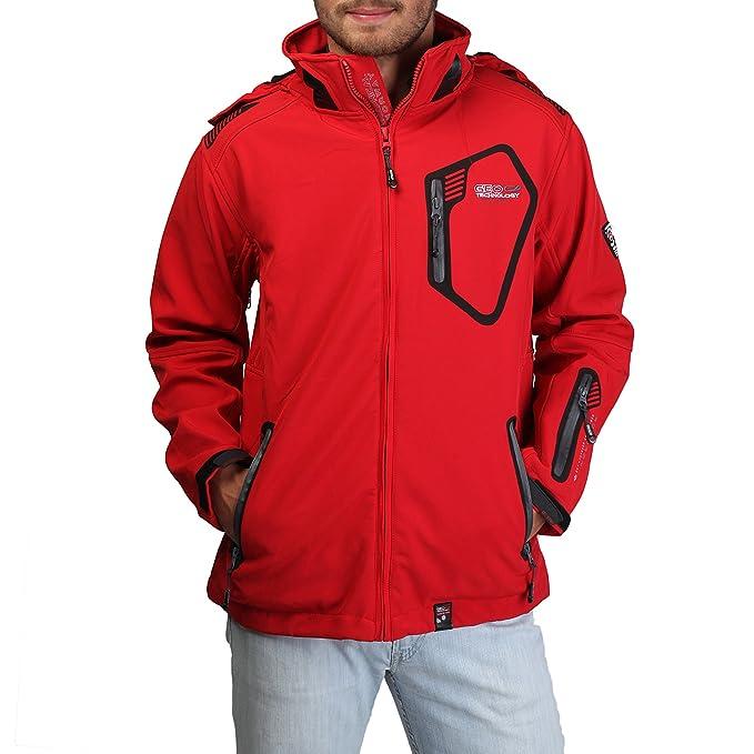 GEOGRAPHICAL NORWAY chaqueta hombre Tsunami rojo - hombre - L: Amazon.es: Ropa y accesorios