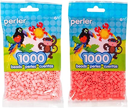 Light Pink, Pink, Bubble Gum Perler Bead Bag Pink Group