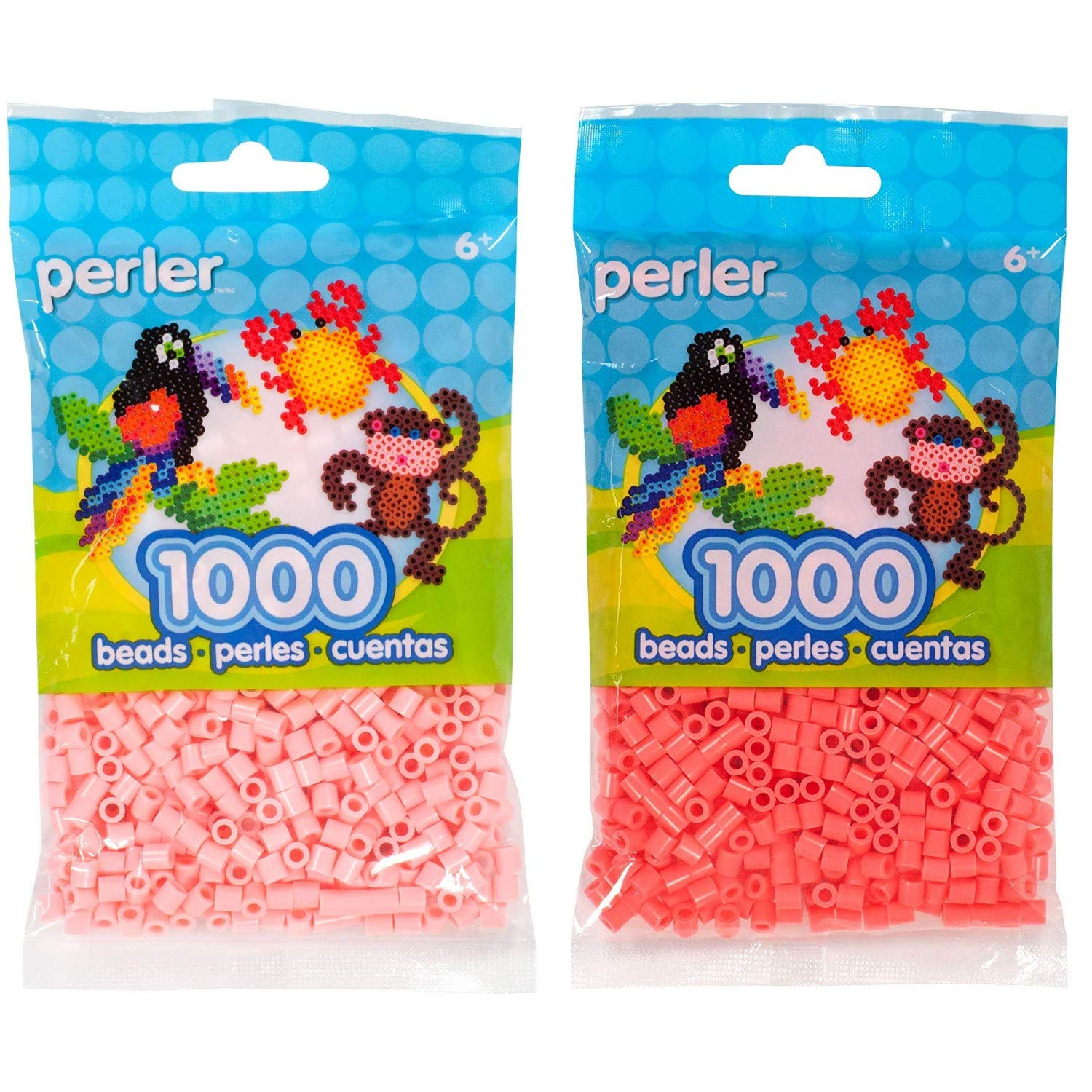 2 Pack Bundle of Pewter and Charcoal Perler Bead Bag 1000