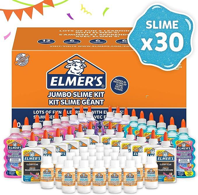 Elmers Kit Slime Jumbo Paquete fiesta con pegamento con purpurina, transparente y solución activadora: Amazon.es: Oficina y papelería