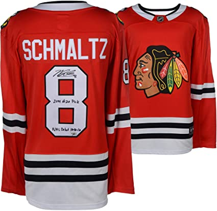 Nick Schmaltz Chicago Blackhawks Autographed Red Fanatics Breakaway Jersey  with Multiple Inscriptions - Limited Edition of c60f600f7