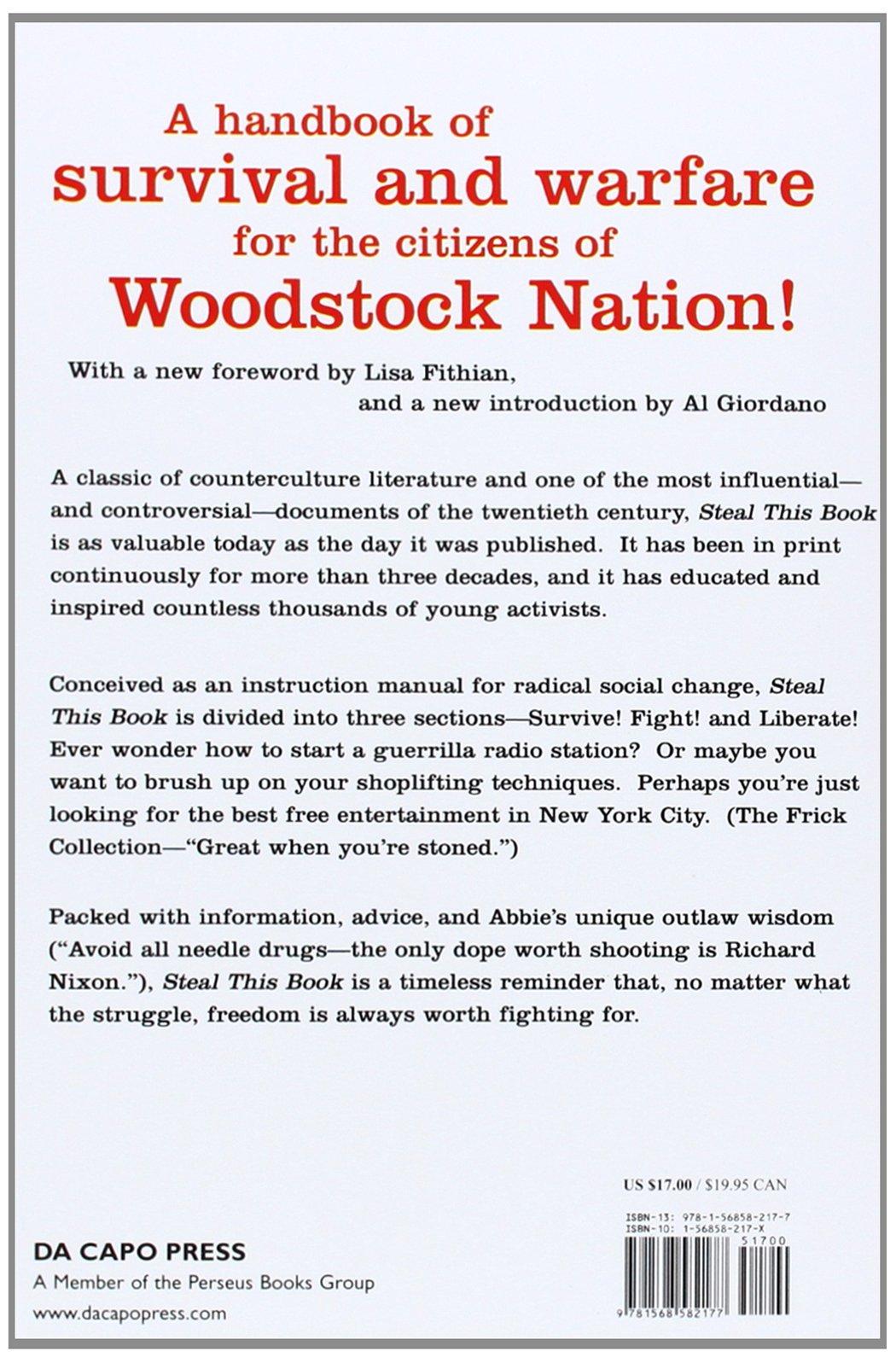 Steal This Book: Abbie Hoffman: 9781568582177: Amazon com: Books