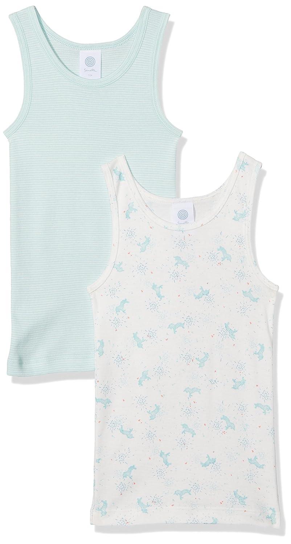 Sanetta Girl's Vest Pack of 2 Beige (Broken White 1427) 6 Years Pack of 2 333815