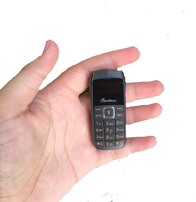 a96fcb0321b GreenBerry Nano Dual SIM Mini Phone with SPY Camera (Black)  Amazon.in   Electronics