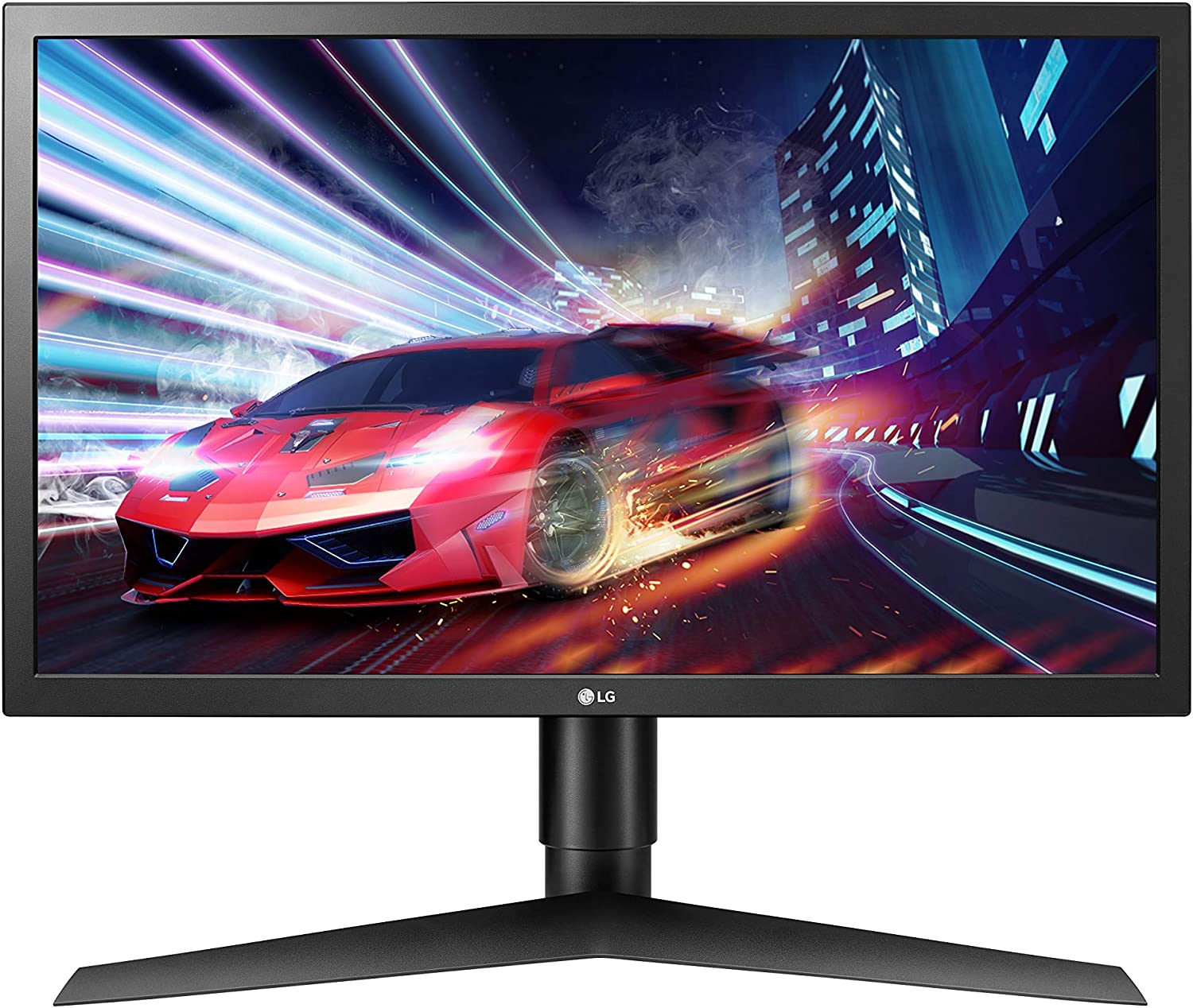 LG 24GL650-B 24 Inch Full HD Ultragear Gaming Monitor with FreeSync 144Hz Refresh Rate and 1ms Response Time