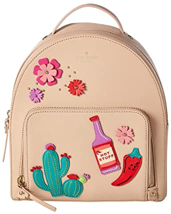 3fe6c056b4 Amazon.com  Kate Spade Cactus Tomi New Horizons Cashew Saffiano Leather  Small Backpack  Clothing