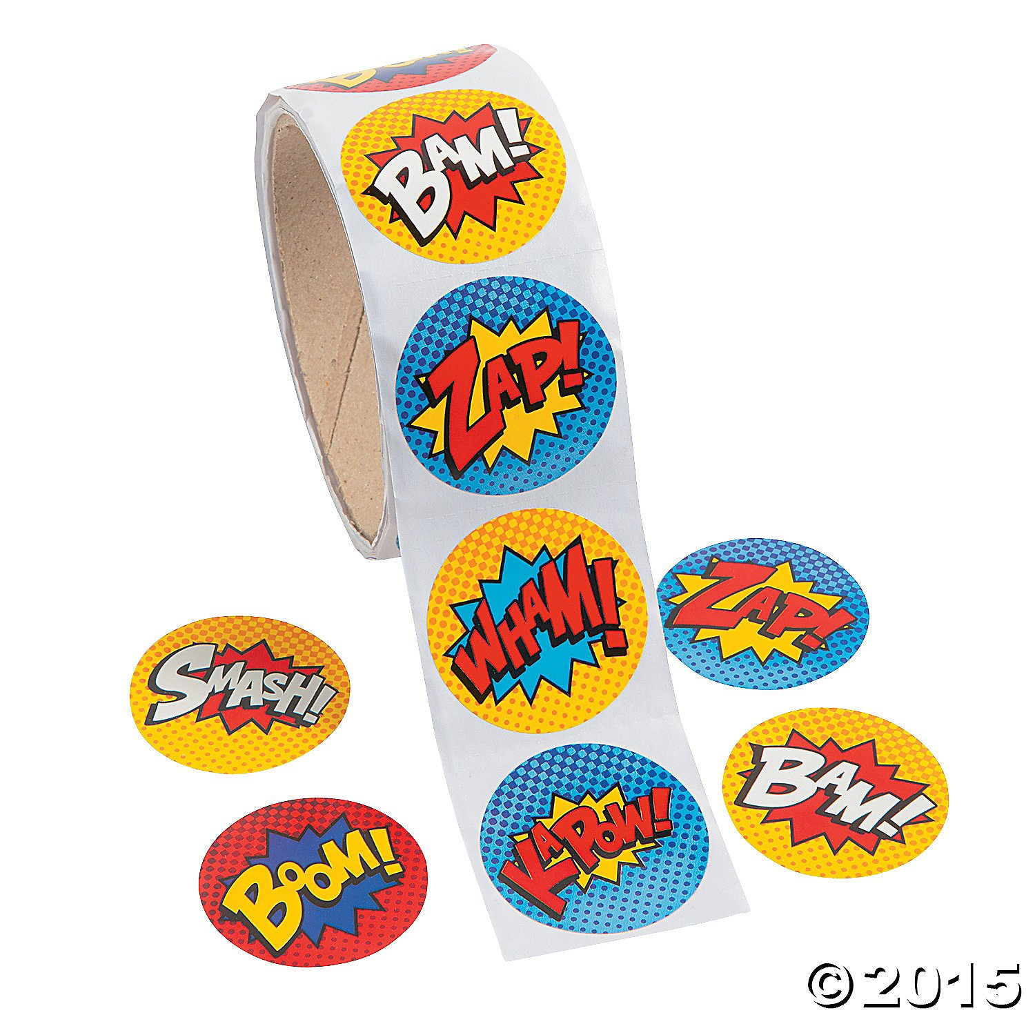 Superhero sticker roll 300 stickers buy bulk and save stickers amazon canada