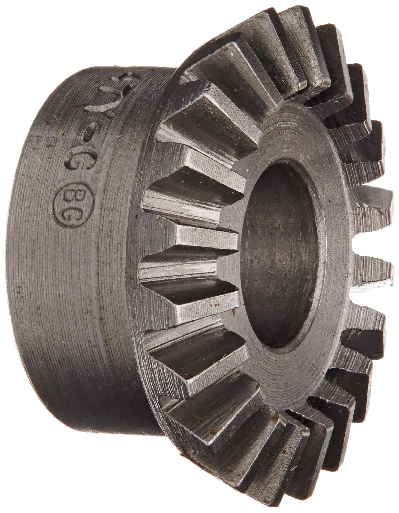Boston Gear L147Y-G Bevel Gear, 2:1 Ratio, 0.375'' Bore, 20 Pitch, 20 Teeth, 20 Degree Pressure Angle, Straight Bevel, Steel