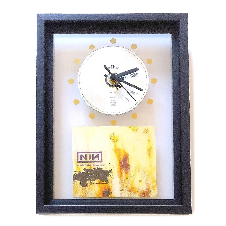 FRAMED CD Art Clock The Downward Spiral NIN