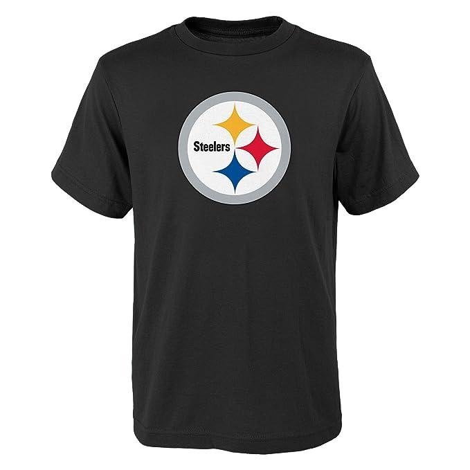 8-18 Pittsburgh Steelers Youth Logo T-Shirt Black