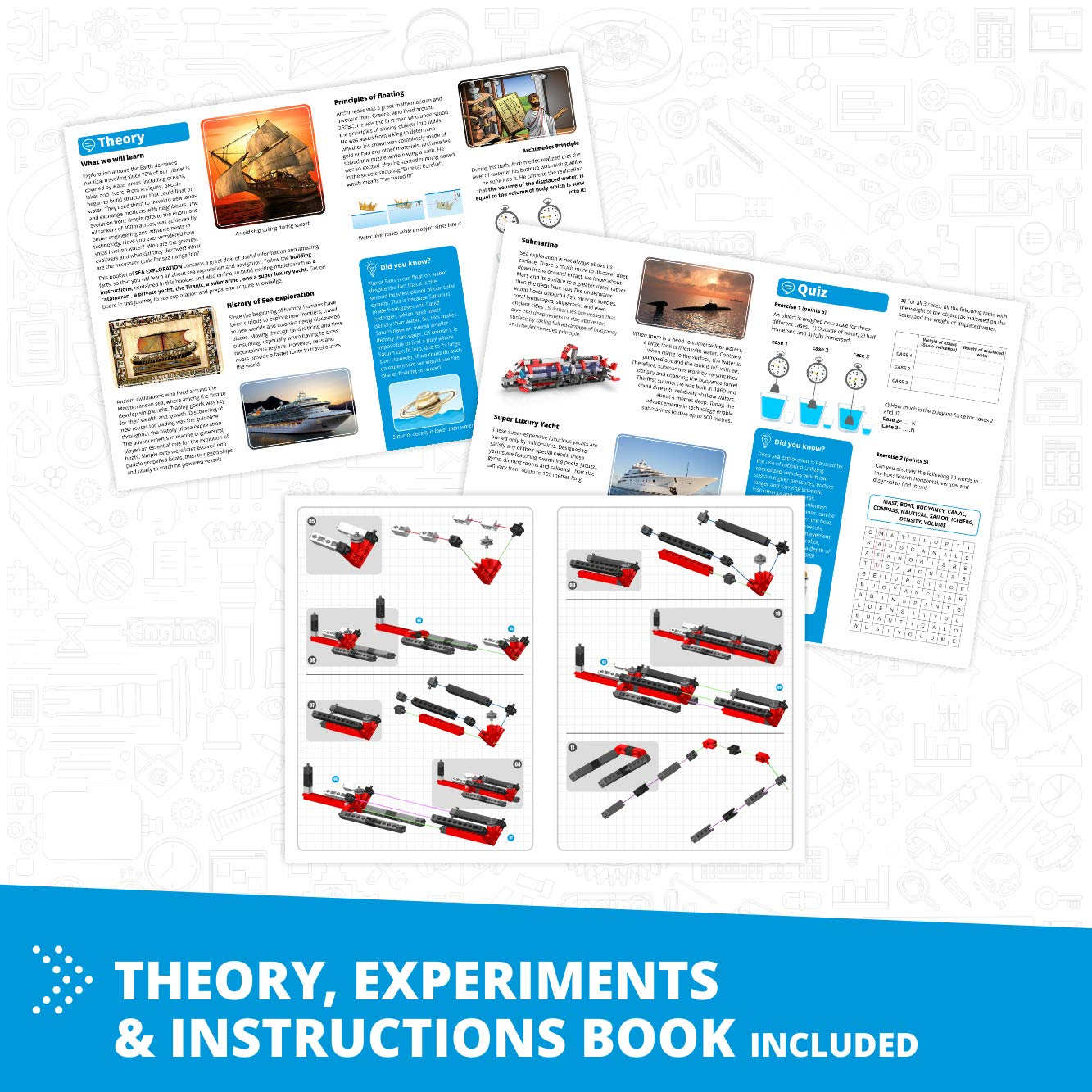 Learning About: Sea Exploration Building Toy /& Learning Activities /& Experiments 5 Models Options STEM Heroes Toys Engino