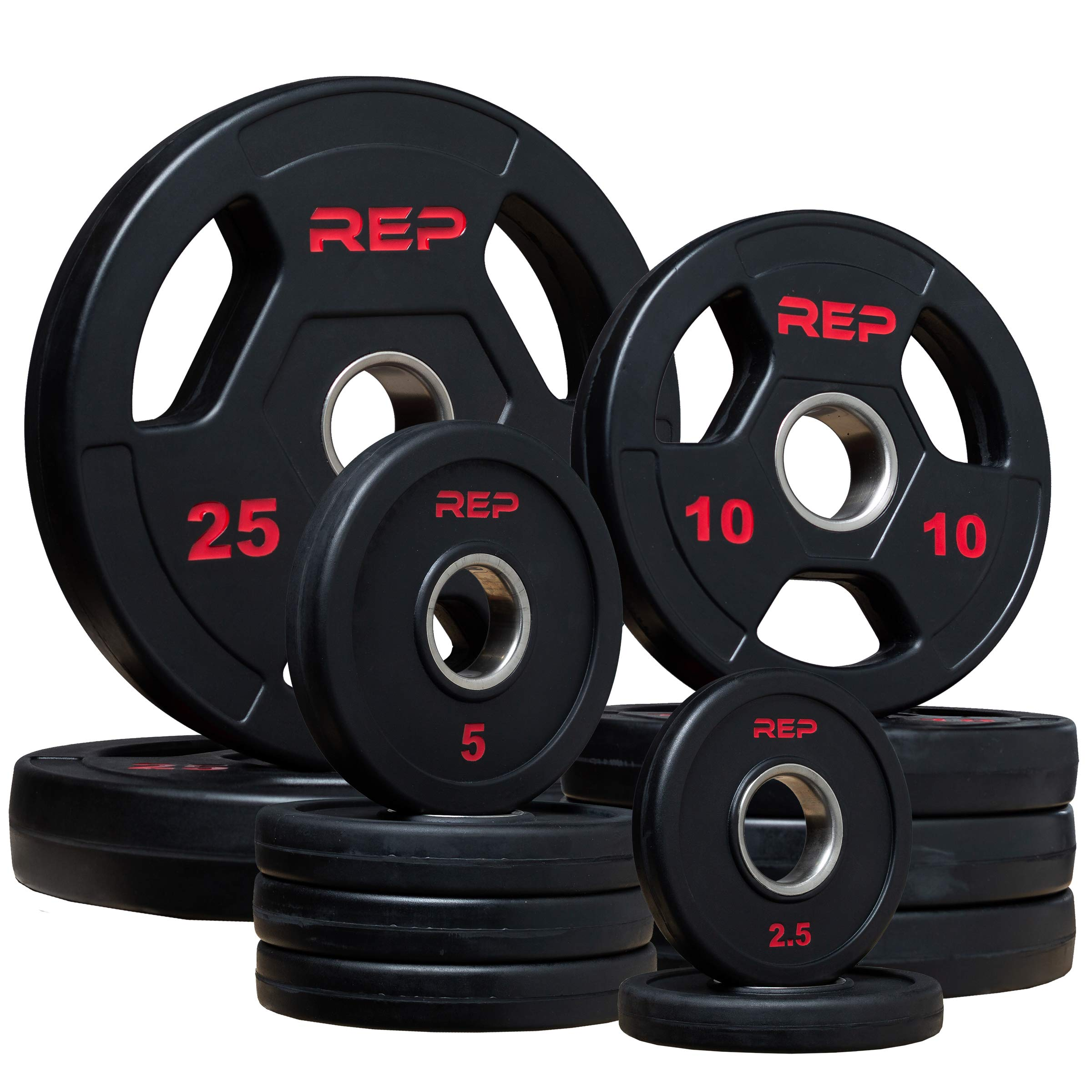 Rep Rubber Coated Olympic Plates - 115lb Set