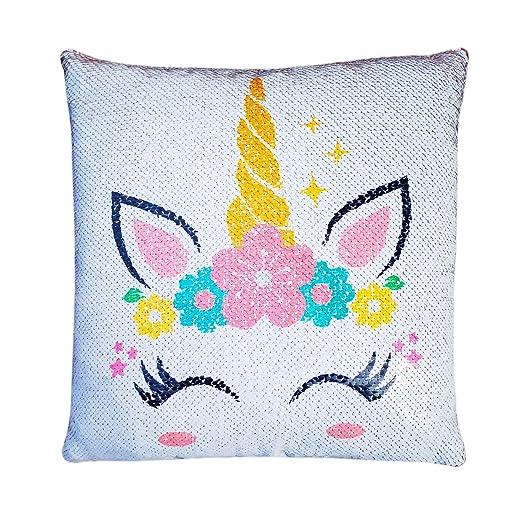 Fxozru Unicorn fundas de almohada, unicornio lentejuelas ...