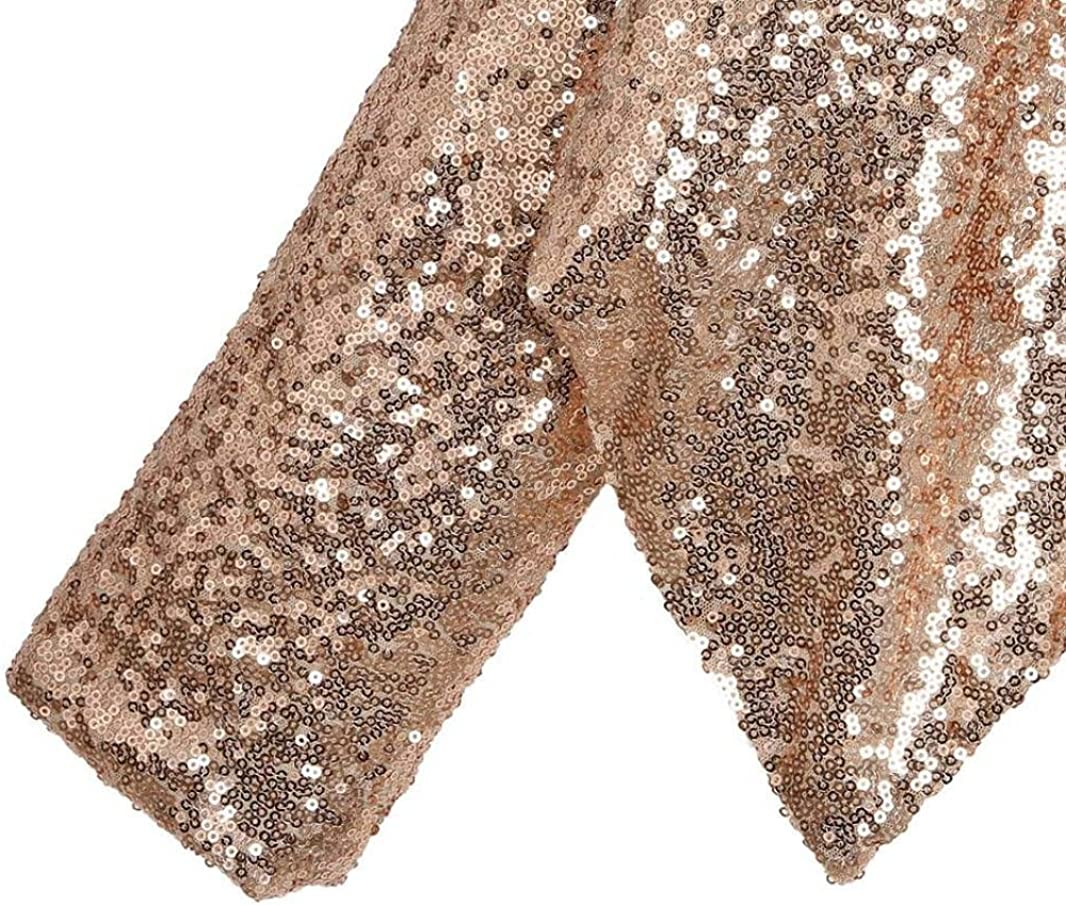 Aibiner-Coat Womens Blazer Long Sleeve Irregular Blazer Sequined Cardigan Streetwear Short Blazer
