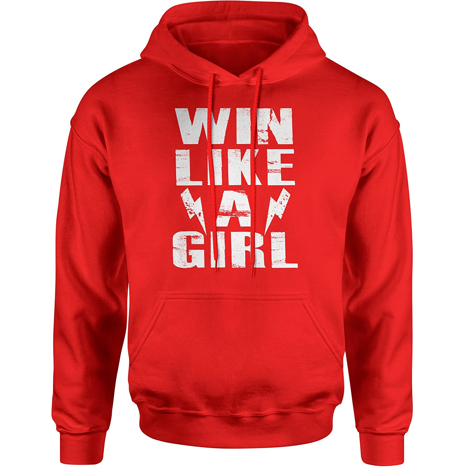 Expression Tees Win Like A Girl Unisex Adult Hoodie