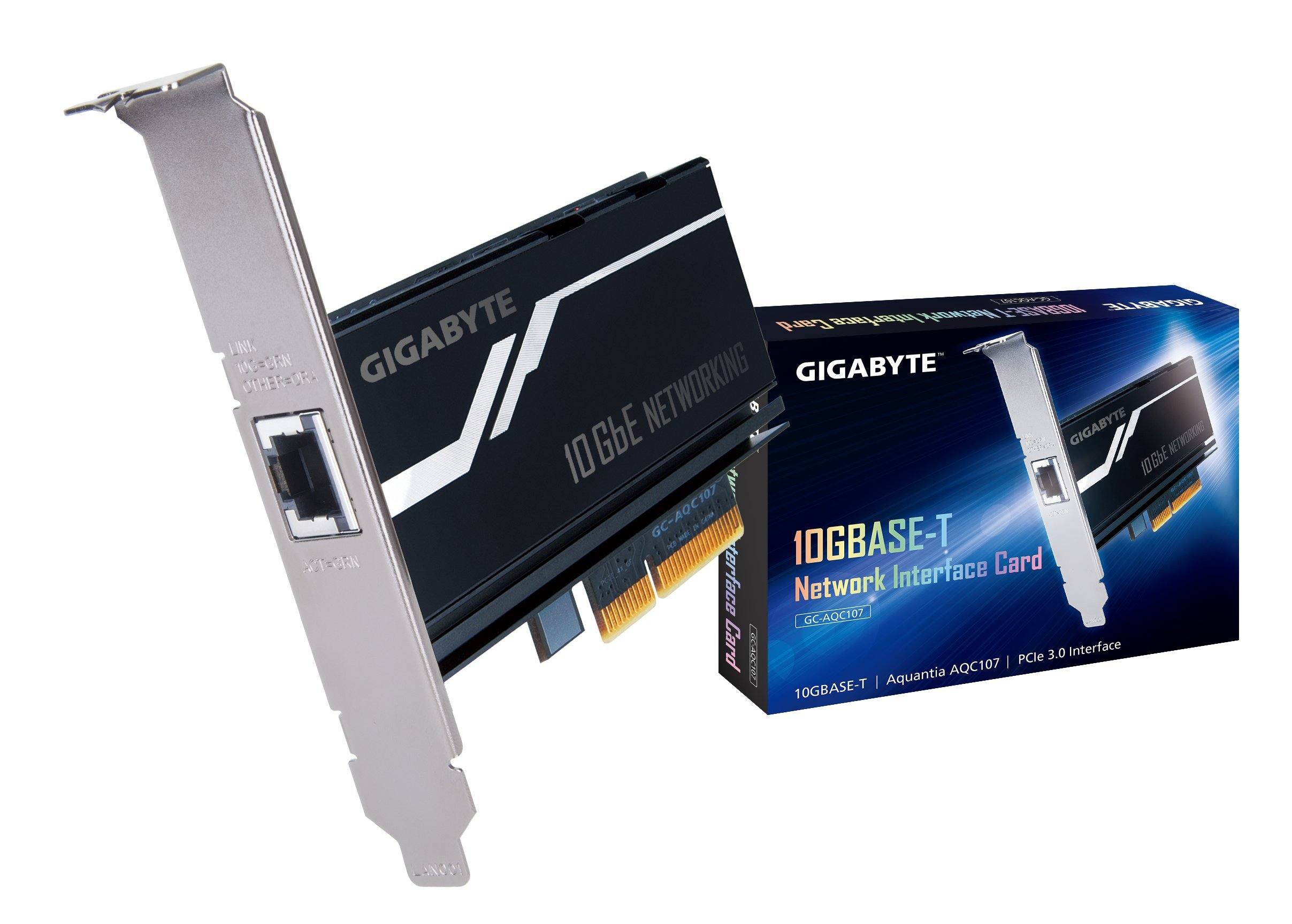 Gigabyte GC-AQC107 (10GbE Network Adaptor Pci-E X4 Card with RJ-45 Port) by Gigabyte