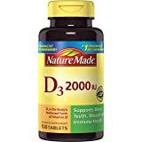 Nature Made Vitamin D3 2000 IU 100-Count Tablets
