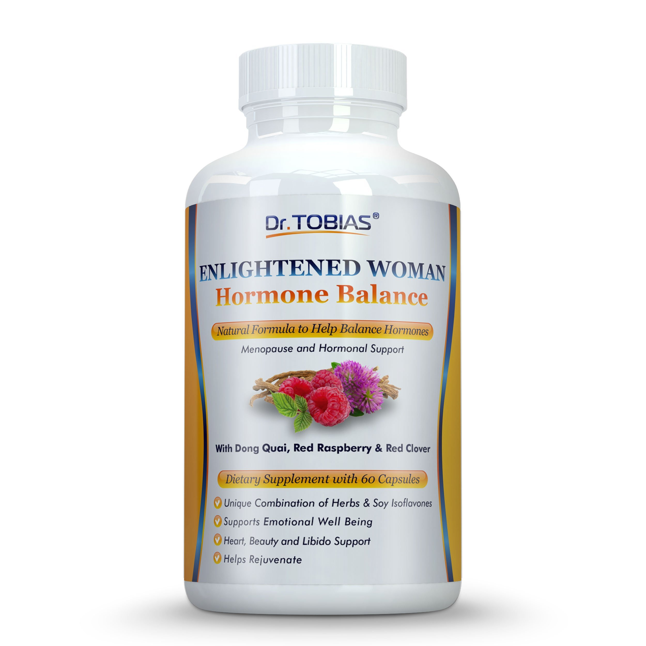 Dr. Tobias Menopause Supplement for Menopausal Support & Hot Flash Relief - Natural Help for PMS, Adrenal & Hormone Balance, Women's Health & Well-being
